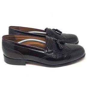 Bostonian Wingtip Tassle Loafer Burgandy Mens 12